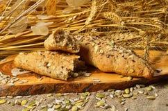 面包和谷物种子 库存图片