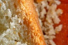 面包和面包屑特写镜头宏指令  库存照片