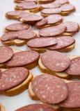 面包和香肠 免版税库存图片