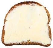 面包和黑麦被隔绝的黄油三明治 免版税库存照片