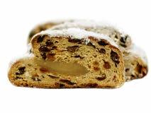 面包圣诞节christstollen德国传统 库存照片