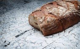 面包在木背景,食物特写镜头的 库存图片