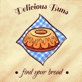 添面包在餐巾18 免版税图库摄影