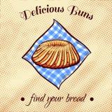 添面包在餐巾20 免版税库存图片