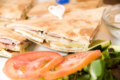 面包塞浦路斯利马索尔pita三明治 库存照片