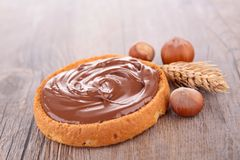 面包多士和巧克力 免版税库存照片
