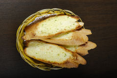 面包大蒜 免版税库存照片