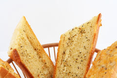 面包大蒜 免版税图库摄影
