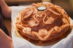 面包大面包盐婚礼 库存图片
