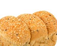 面包大面包芝麻 免版税库存图片