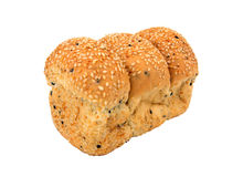 面包大面包芝麻 免版税库存照片