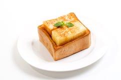 面包奶油色冰孤立 免版税图库摄影