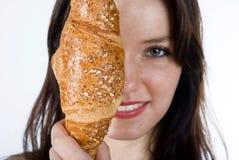 面包妇女 免版税库存图片