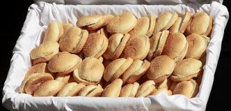 面包小圆面包汉堡 图库摄影
