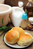 面包小圆面包 免版税库存图片