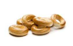 面包小薄脆饼干的环形 免版税库存照片