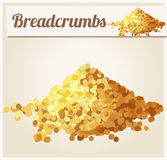 面包屑 详细的传染媒介象 向量例证