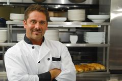 面包师微笑 免版税库存照片