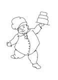 面包师跳舞 库存照片