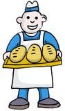 面包师 向量例证