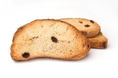 面包干用葡萄干 库存图片