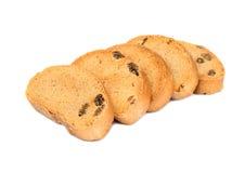 面包干用葡萄干 免版税库存照片