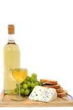 面包干酪葡萄酒 免版税库存图片
