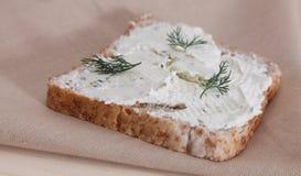 面包干酪 免版税图库摄影