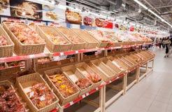 面包店产品准备好对销售 免版税库存照片