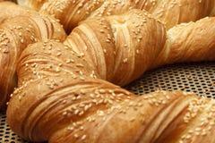 面包店产品在面包店商店 免版税图库摄影