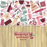 面包店和甜抽象例证 皇族释放例证