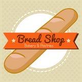 面包店和酥皮点心面包商店传染媒介 免版税库存照片