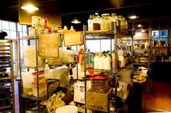 面包店咖啡内部界面 免版税图库摄影