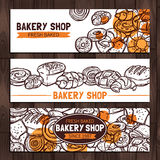 面包店商店设计剪影 库存图片
