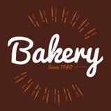 面包店布朗背景1980年传染媒介 免版税库存照片