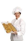 面包店快乐的主厨 库存图片