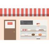 面包店房子咖啡馆和小餐馆 图库摄影