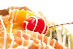 面包店接近的丹麦果子 免版税库存照片