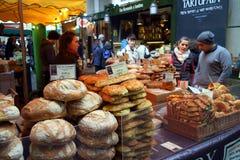 面包店摊位在伦敦 库存照片