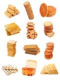 面包店收集甜点 库存图片