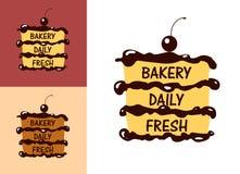 面包店新徽章或标签 库存照片