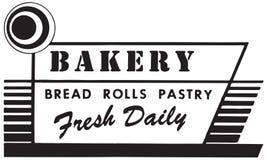 面包店新鲜的日报 皇族释放例证