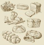 面包店无缝的向量 免版税库存图片