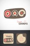 面包店曲奇饼徽标设计 免版税库存照片