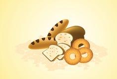 面包店界面墙纸 向量例证