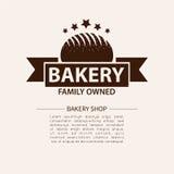 面包店略写法 面包店或助长的商店葡萄酒设计元素 免版税库存图片