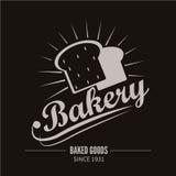 面包店略写法 面包店或助长的商店葡萄酒设计元素 库存图片