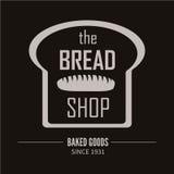 面包店略写法 面包店或助长的商店葡萄酒设计元素 免版税图库摄影