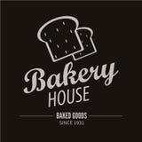 面包店略写法 面包店或助长的商店葡萄酒设计元素 图库摄影