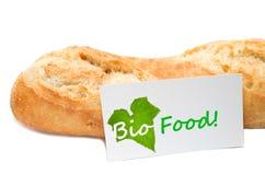 从面包店的生物食物概念 免版税图库摄影